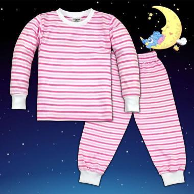Пижама в светло коралено райе М-5