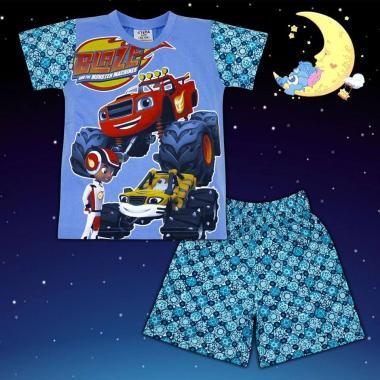 Пижама лятна Пламъчко в синьо