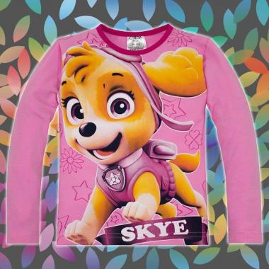 блуза тънка с дълъг ръкав Скай Пес Патрул в розово