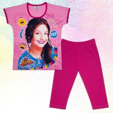 Комплект блузка и клин Сой Луна в розово М2