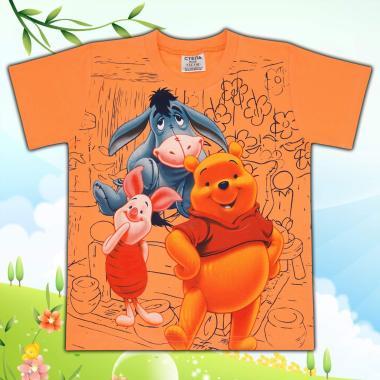 Тениска Мечо Пух в оранжево