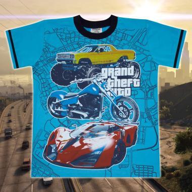 Тениска GTA в наситено синьо
