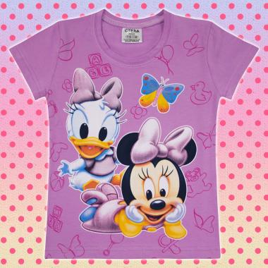 Тениска Мини Маус бебе в светло лилаво