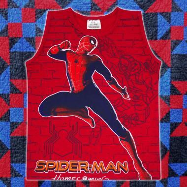 Тениска без ръкав Спайдърмен в червено