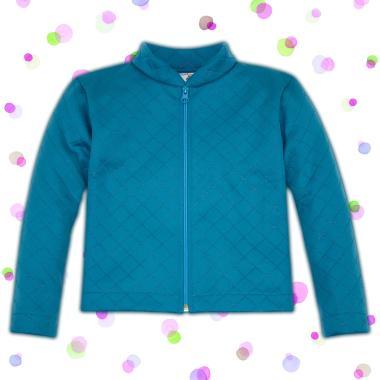 Неопреново сако с релефен ефект на ромбове в синьо