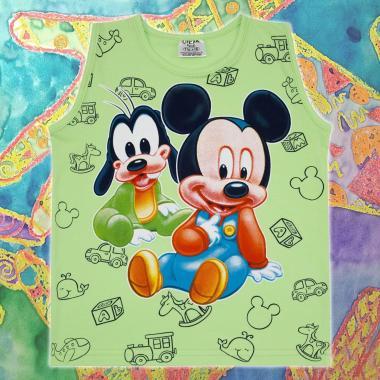 Тениска без ръкав Мики Маус и Гуфи в резеда
