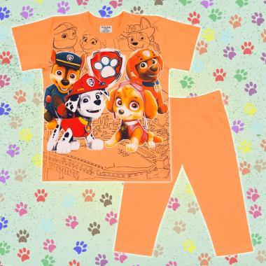 Комплект тениска и клин Пес Патрул в оранжево