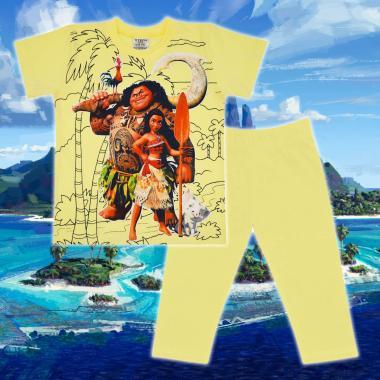 Комплект тениска и клин Смелата Ваяна в жълто