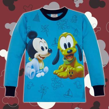 Блуза Мики и Гуфи с 3 канта в наситено синьо