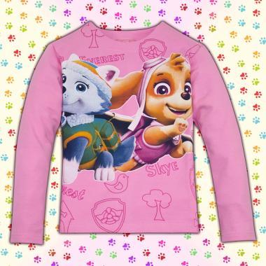 Блуза Скай и Еверест Пес Патрул в розово