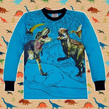 Блуза Динозаври Джурасик парк в синьо