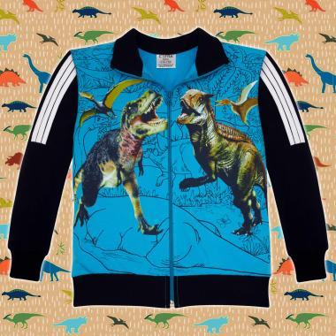 Суичър Динозаври Джурасик парк в синьо