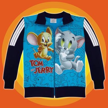 Суичър Том и Джери 3 канта в синьо 3