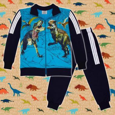 Комплект 2ч.(с/д) Динозаври Джурасик парк в синьо
