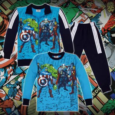Комплект 3ч.(с/б/д) Avengers в синьо