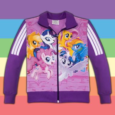 Суичър Малкото Пони-My Little Pony в лилаво