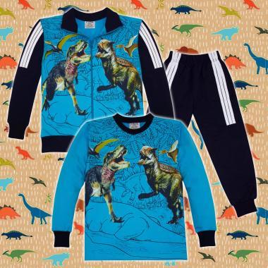 Комплект 3ч.(с/б/д) Динозаври Джурасик парк в синьо