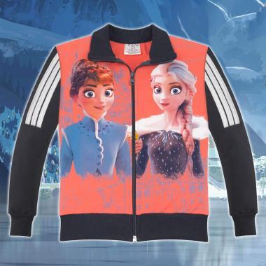 Суичър Замръзналото кралство-Frozen в цвят праскова