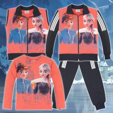 Комплект 4ч.(с/б/е/д) Замръзналото кралство-Frozen в цвят праскова