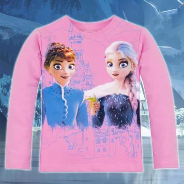 Блуза Замръзналото кралство-Frozen в цвят розово