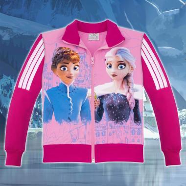 Суичър Замръзналото кралство-Frozen в цвят розово