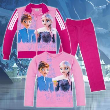 Комплект 3ч.(с/б/д) Замръзналото кралство-Frozen в цвят розово