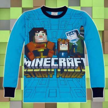 Блуза Майнкрафт в наситено синьо