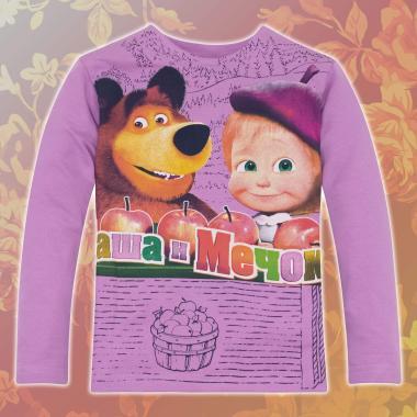 Блуза Маша и мечока лилаво