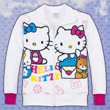 Суичър Кити в бяло