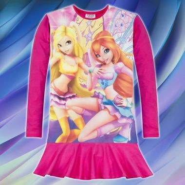 Туника-рокля WINX CLUB в циклама, дигитален печат