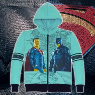Суичър триконечна вата Батман срещу Супермен в мента