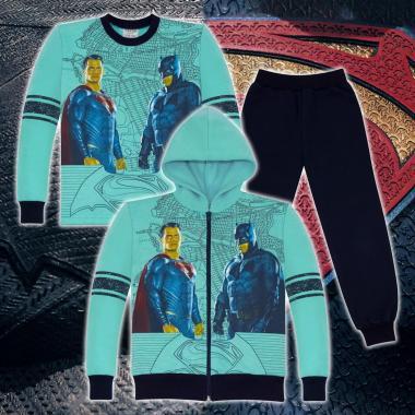 Комплект триконечна вата(с/б/д) Батман срещу Супермен в мента