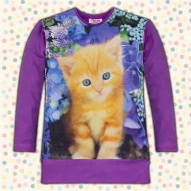 Блузон Коте в тъмно лилаво, дигитален печат