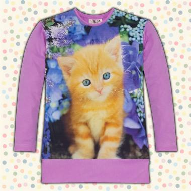 Блузон Коте в светло лилаво, дигитален печат
