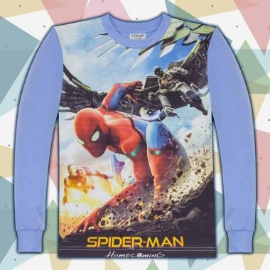 блуза   тънка с дълъг ръкав Спайдермен 3 в синьо