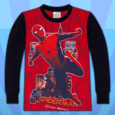 блуза тънка с дълъг ръкав Спайдермен