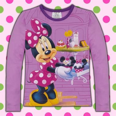блуза тънка с дълъг ръкав Мини Маус в лила