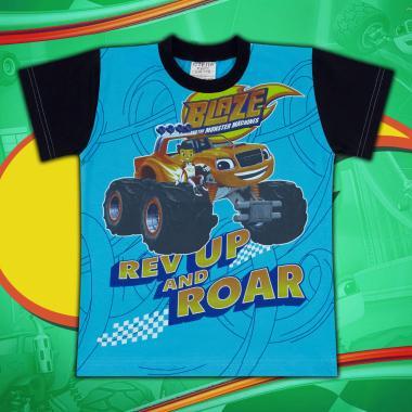 Тениска Пламъчко-в-наситено синьо
