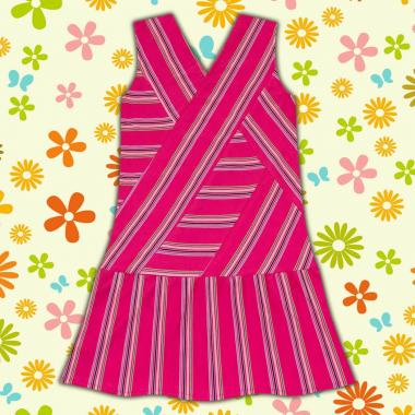 рокля спортно-елегантна-райе-в-циклама