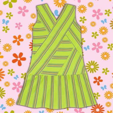 рокля спортно-елегантна-райе-в-резеда