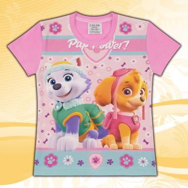 Блуза с къс ръкав Скай от Пес Патрул розово