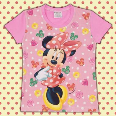 Блуза с къс ръкав Мини в розово