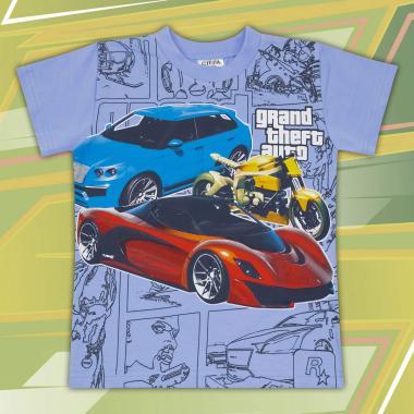Тениска GTA в синьо