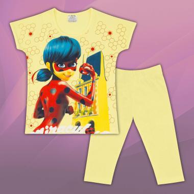 Комплект блузка и клин Калинка и котарака в жълто