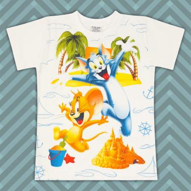 Тениска Том и Джери-в-екрю