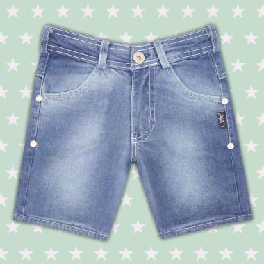 Дънков панталон 3/4 за момче в цвят деним