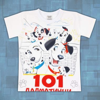 тениска 101 далматинци в бяло