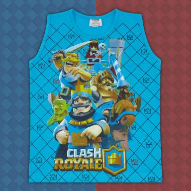 Тениска без ръкав Клаш Роял в наситено синьо