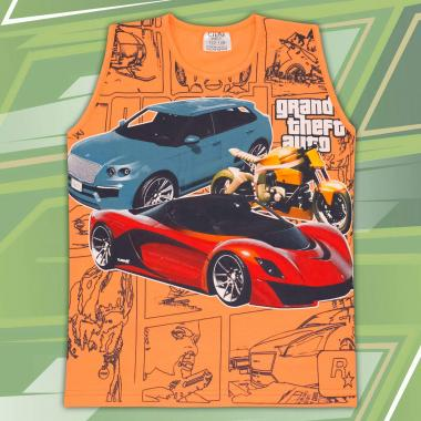 Тениска без ръкав GTA оранжево