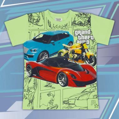 Тениска GTA в резеда